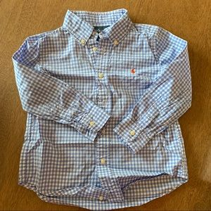 🏇🏼 2 for $20 Ralph Lauren Blue Check Shirt